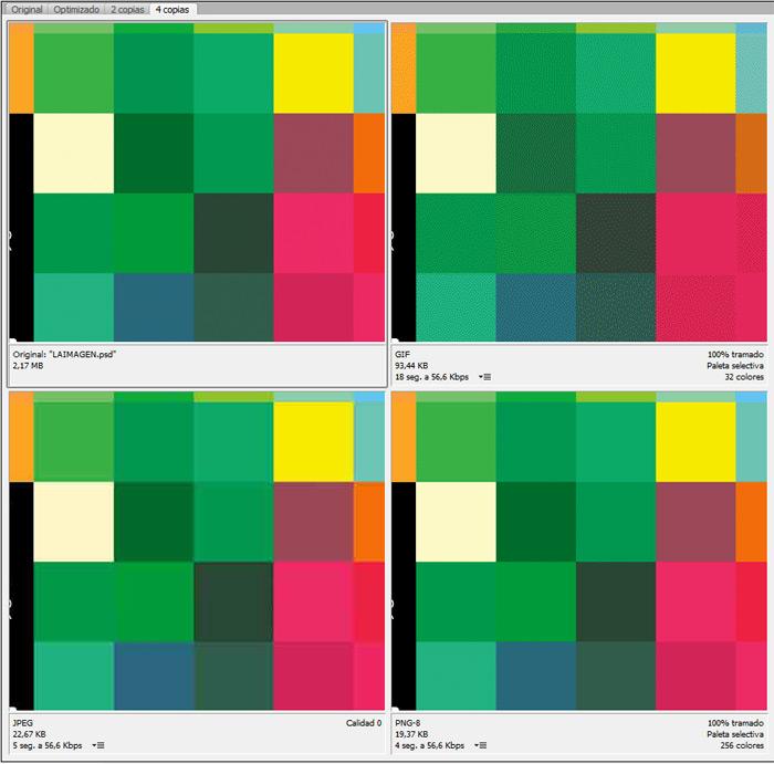 ejemplo de formatos imagen digital, jpg, png y gif