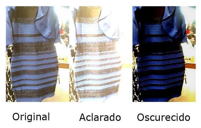 vestido axul y negro, blanco y dorado