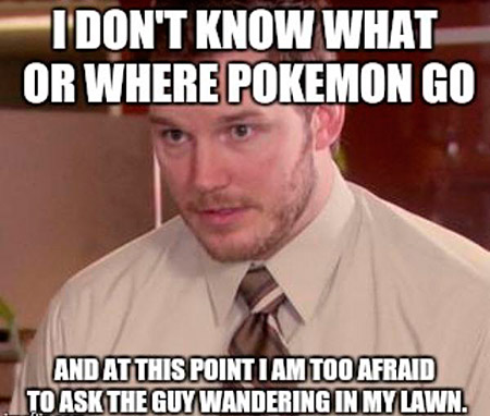 pokemon go meme backyard