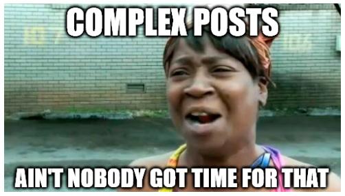 posts complejos