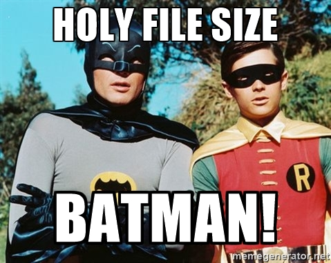 batman file size compression