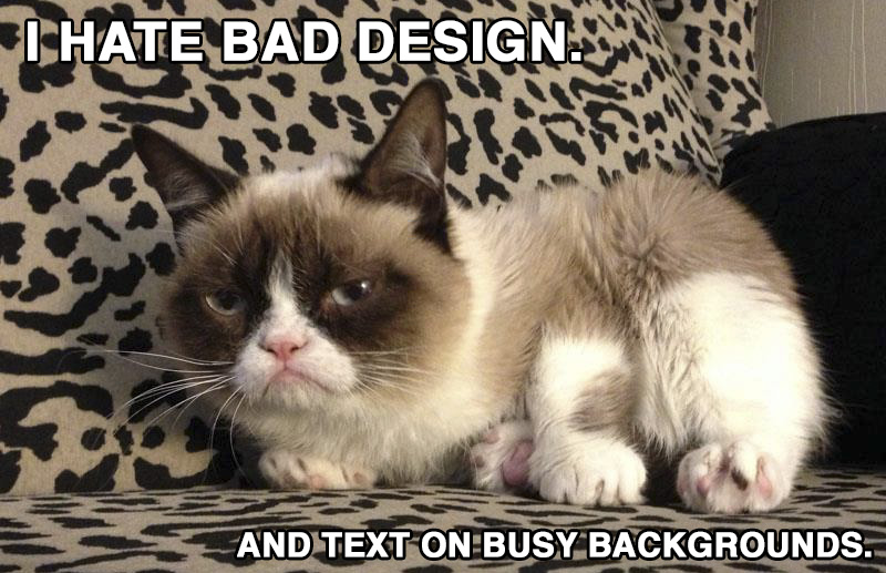 grumpy design cat