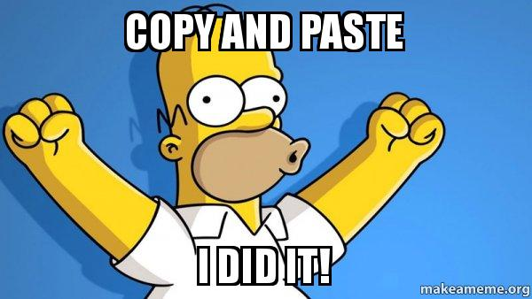 simpsons copypaste meme