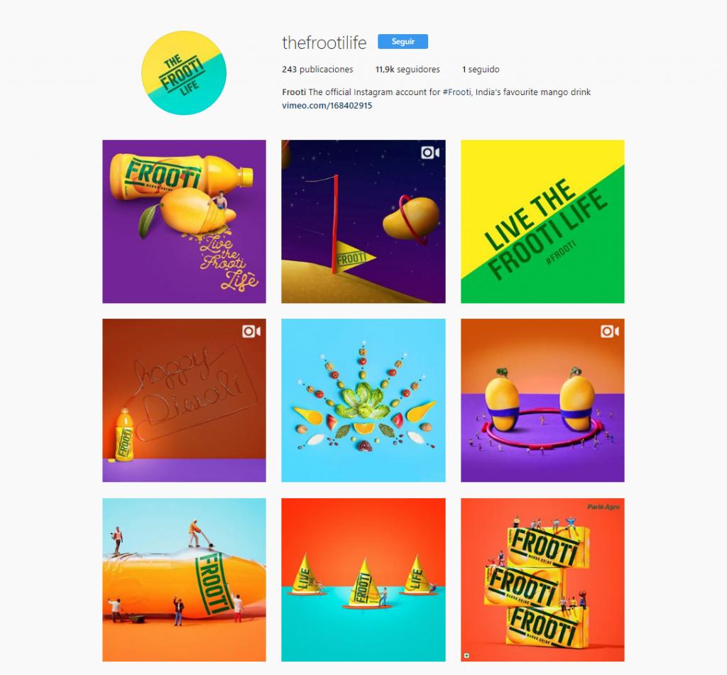 instagram paleta de colores