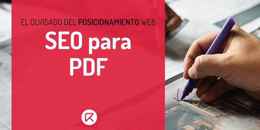 SEO para PDF, posicionamiento web