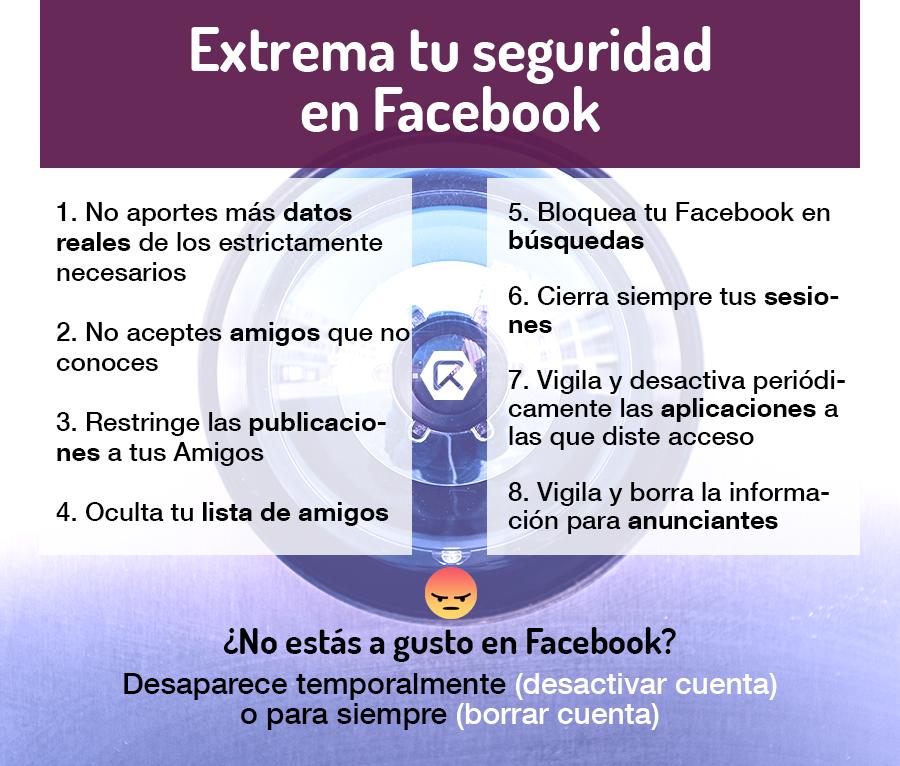 seguridad en facebook infografía
