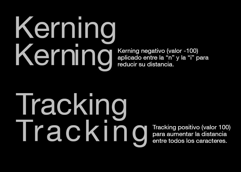 tracking y kerning