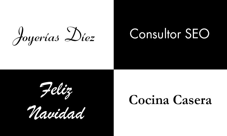 significado de las tipografias adaptadas al mensaje