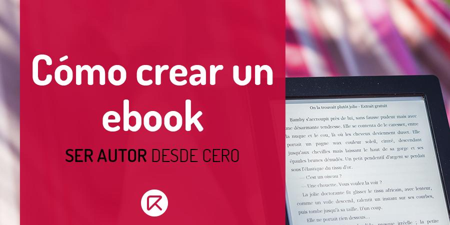 como crear un ebook