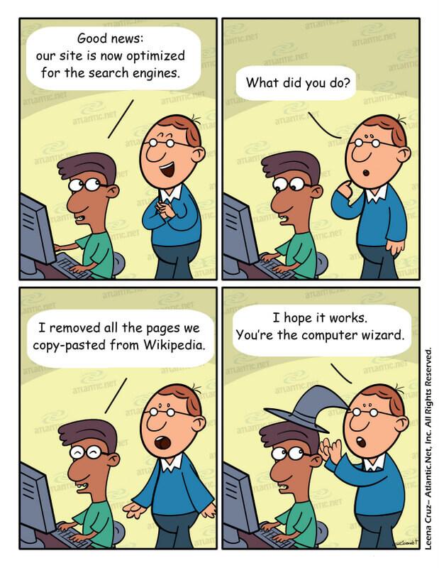 evitar copiar contenidos comic