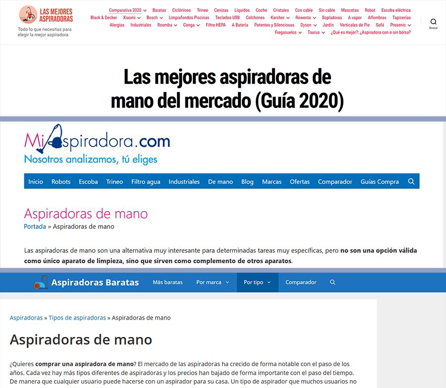 ejemplos de nichos web